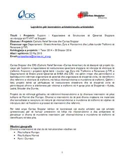Lajmërim për kontraktim arkitekti/studio arkitektësh